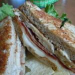 Grilled Chicken Cordon Blue Sandwich