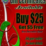 Christmas 2012 Gift certificates