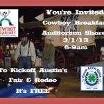 Manor, Texas Restaurant Supports Rodeo Austin at the Cowboy Breakfast 2013