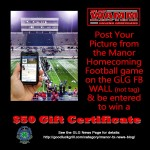 Manor Homecoming Football Game Facebook Contest