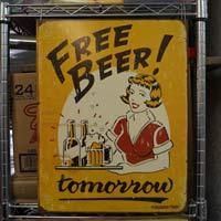 Free Beer Vintage Sign